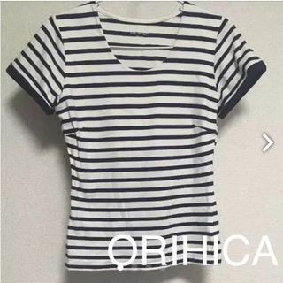 ORIHICA ボーダー カットソー