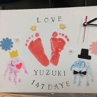赤ちゃんと作る世界にひとつだけの手作り時計作り