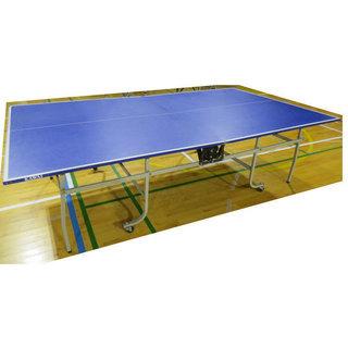 中古 ② 卓球台 内折れ式 タイプ 国際規格サイズ 幅152 長さ...
