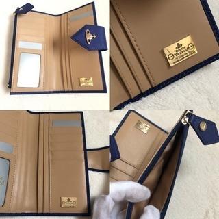 ヴィヴィアンウエストウッド 財布 正規品 新品 ブルー 縦型 定期入れ - 服/ファッション