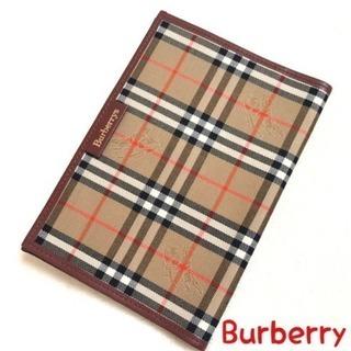 BURBERRY バーバリー ブックカバー チェック 正規品 美品