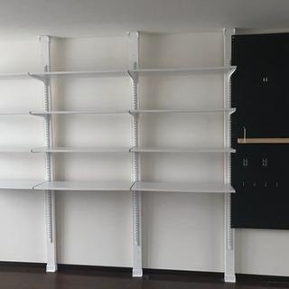 ディアウォール 壁面収納セット 黒板有孔ボード収納 チャンネルサポート