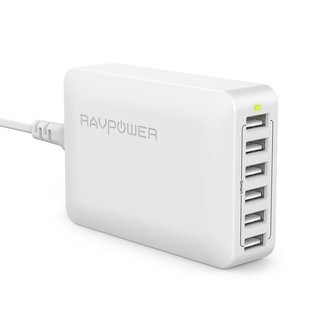 RAVPower USB充電器 (60W 6ポート) USB コ...
