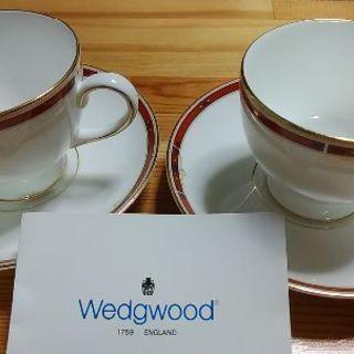 【入手困難!】Wedgwood ティーカップ&ソーサーセット2客...