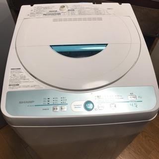 あげます!2012製のシャープ全自動洗濯機4.5k es-…