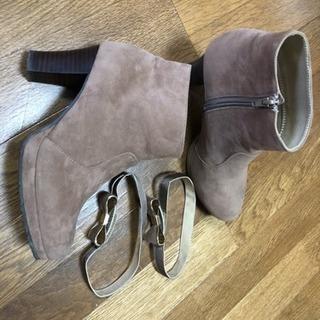 Lサイズ  ブラウンベージュの靴