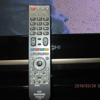 HITACHI  プラズマ TV 42型 リモコン 録画機能あり...