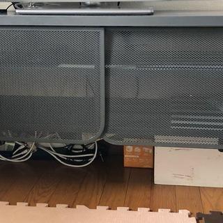 差し上げます IKEA スチール テレビ台+棚 セット ダークグレ...