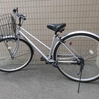 自転車27インチ アクアシティシルバー 変速無し