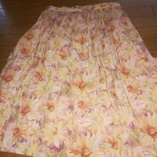 花柄大きいサイズスカート