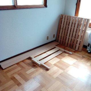 状態の良い 木製シングルベッド