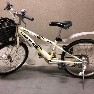 子供用 22インチ シマノ変速付 マウンテンバイク 白