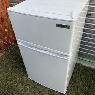 ◉2017年製ベステック2ドア冷蔵庫85L