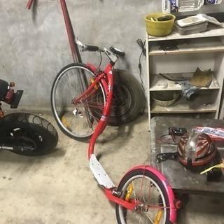 おしゃれな、キック自転車