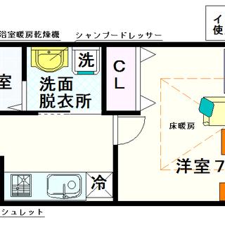 【ナンバプレミアムグレース】2号タイプ!1Kタイプ!床暖房付って...