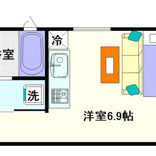 【Casa Y Nanba】1号タイプ!1Rタイプ!スカパー対応...