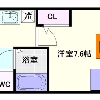 【フェリーチェ難波オーベスト】6号タイプ!1Kタイプ!難波ぐらい...