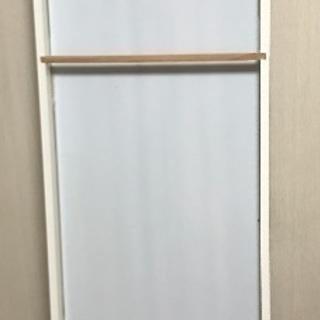 イケア IKEA 白 姿見 鏡 ウォールミラー