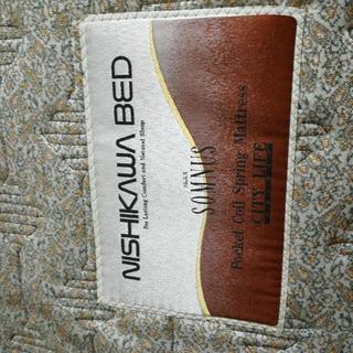 西川のセミダブルベッド