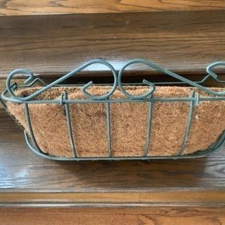 新品同様 壁掛け 植木鉢 グリーン ガーデニング ハンギングバス...