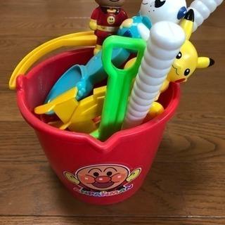 アンパンマンのお砂場バケツと砂場道具