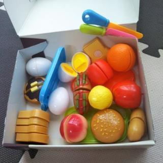 値下げ食べ物 おもちゃ多数 くだもの 包丁 フード まな板 たま...