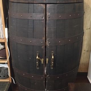 キャビネット ウィスキー樽製