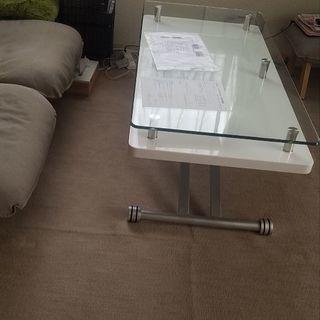 昇降式テーブル ガラス面保護ビニールマット付