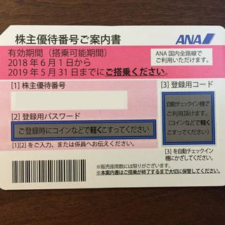 ANA(全日空) 株主優待券  (有効期限:2018年06月01...