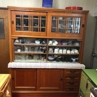 食器棚 木製 レトロ