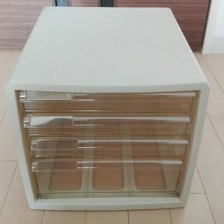 ナカバヤシ レターケース 書類入れ A4 仕切板対応 4段 ホワイト