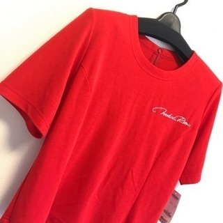 【新品】赤 Tシャツ 半袖 肌着 インナー L M 五分丈 部屋...