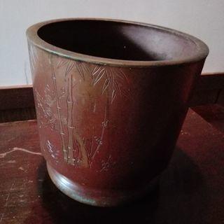 火鉢 銅製 彫金 鉢カバーにも