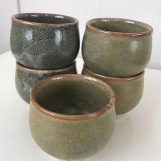 会津 流紋焼   食器  湯呑み 5客セット
