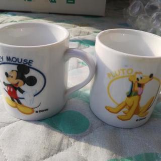 Mickey MouseとPlutoのコップ