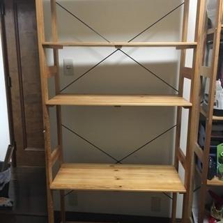 木製シェルフ 5段 二階から運び下ろしてお引取りいただける方に