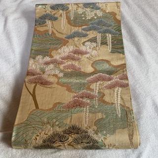 正絹 高級袋帯 松