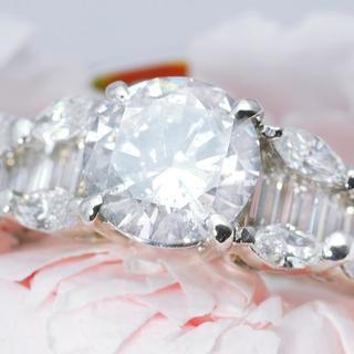 新品ダイヤモンド指輪1.986カラット鑑定書付き