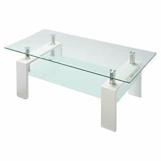 ガラステーブル(白)