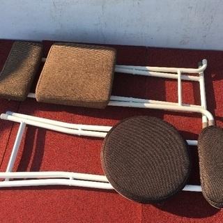 折りたたみ式椅子 2つセット