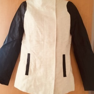 H&M ジャケット 白×黒