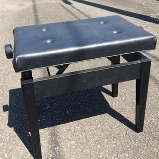 高さ調整付き中古ピアノ椅子(座面55×35)
