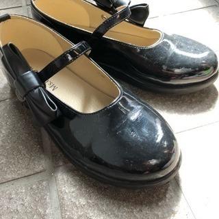 【美品】1度使用 エナメル靴 21cm