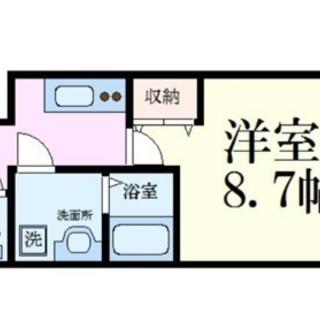 ペット可能♫敷金礼金なし♫駅すぐ♫築浅♫広めな1K♫