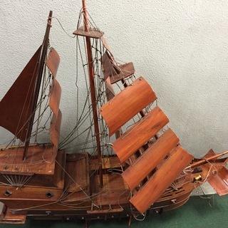 特大 木製 船の模型 ジャンク品 組み立て直せる方ぜひ♪