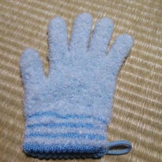 チュチュベビーパパ洗ってお風呂用手袋ブルー