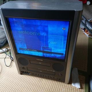 ブラウン管テレビ DVDとビデオ内蔵の画像