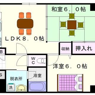 【メゾンマヴィー】3号タイプ!2LDKタイプ!同棲に人気があるね!