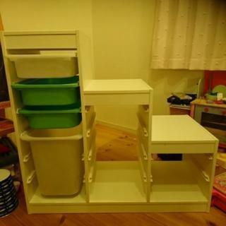 IKEA イケア トロファスト ボックス4つ付き