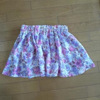 美品 ページボーイの淡い花柄のミニスカート